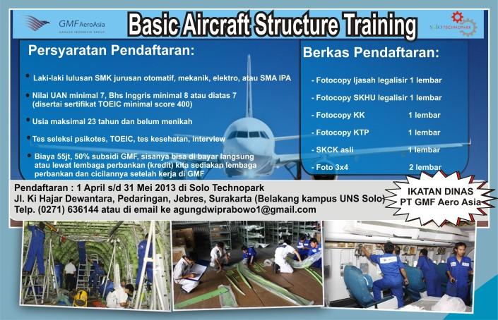 Lulusan SMK Bisa Ikut Basic Aircraft Structure Training