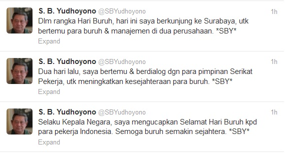 Hari Buruh SBY