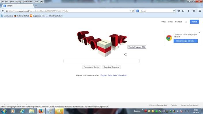 Google Doodle Pemilu Presiden