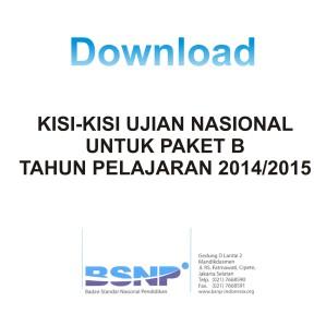 Download Kisi-kisi Paket B
