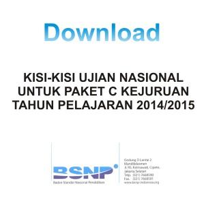 Download Kisi-kisi Paket C Kejuruan