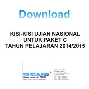 Download Kisi-kisi Paket C