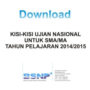Download Kisi-kisi SMA-MA