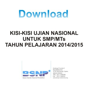 Download Kisi-kisi SMP-MTs